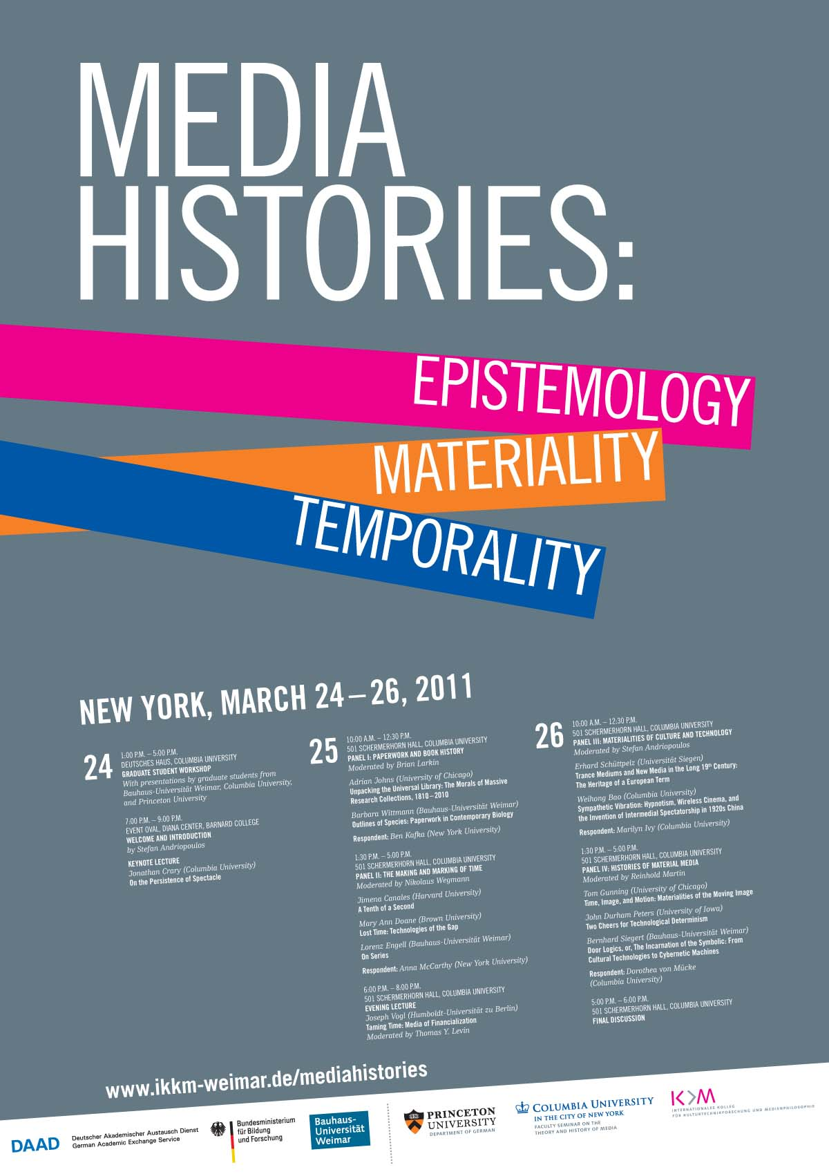 u00bb media histories  epistemology  materiality  temporality